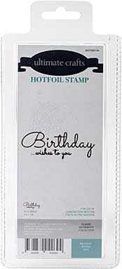 GoPress Hotfoil Plate Classic Sentiments - Birthday Wishes