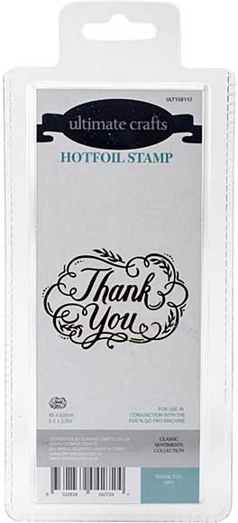 GoPress Hotfoil Plate Classic Sentiments - Thank You