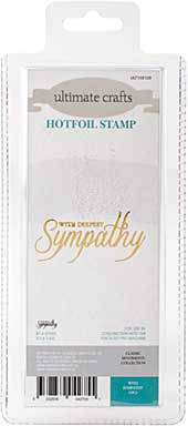 GoPress Hotfoil Plate Classic Sentiments - With Sympathy