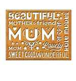 Spellbinders UK Cutting Dies - Wonderful Mum