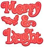 PRE: Spellbinders Shapeabilities Die D-Lites - Merry and Bright