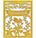 PRE: Spellbinders Card Creator Die - You Are Simply Wonderful