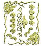 Spellbinders Shapeabilities Dies - Roses And Thorns