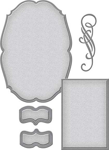 Spellbinders Shapeabilities Dies - Classic Elegance Label