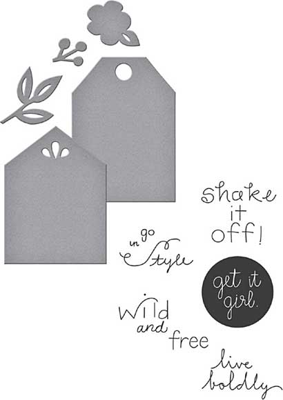Spellbinders Stamp and Die Set - Simply Me
