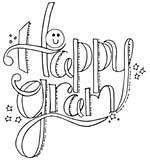 Spellbinders Stamps - Happy Gram