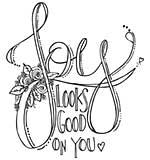 Spellbinders Stamps - Joy Look Good On You