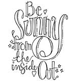 Spellbinders Stamps - Be Sunny