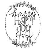 Spellbinders Stamps - Happy Happy, Joy Joy
