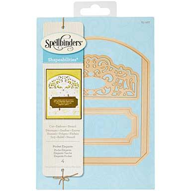 Spellbinders Shapeabilities Dies - Pocket Elegante