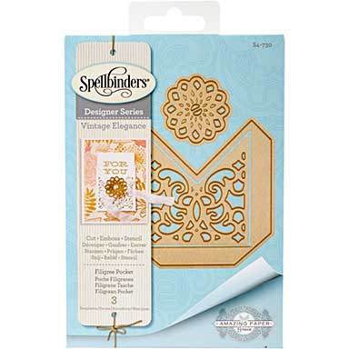Spellbinders Shapeabilities Dies - Filigree Pocket