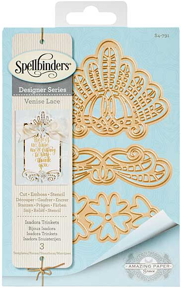 Spellbinders Shapeabilities Dies - Venise Lace - Isadora Trinkets (Becca Feeken)