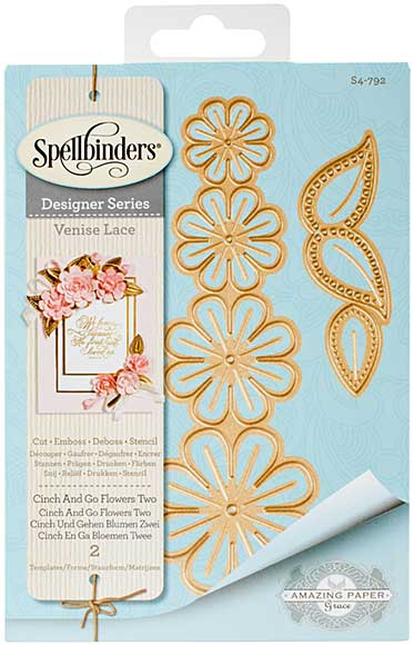Spellbinders Shapeabilities Dies - Venise Lace - Cinch and Go Flowers Two (Becca Feeken)