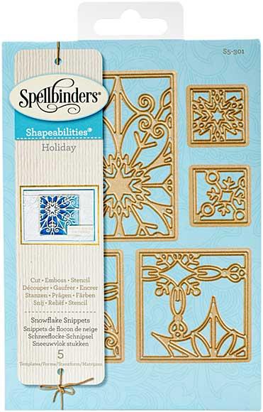 Spellbinders Shapeabilities Dies - Snowflake Snippets