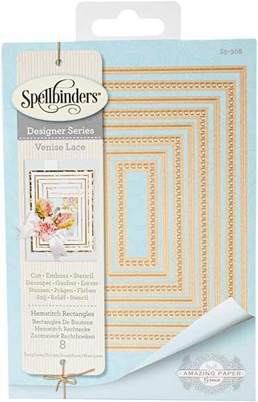 Spellbinders Shapeabilities Dies - Venise Lace - Hemstitch Rectangles (Becca Feeken)