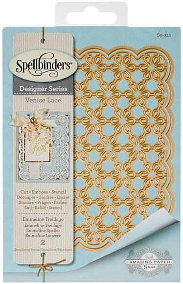Spellbinders Shapeabilities Dies - Venise Lace - Emmeline Treillage (Becca Feeken)