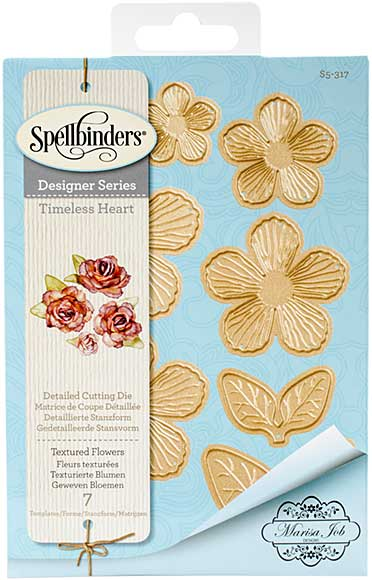 Spellbinder Timeless Heart Designer Series - Textured Flowers (Marisa Job)