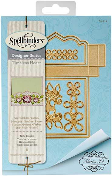 Spellbinder Timeless Heart Designer Series - Note Holder (Marisa Job)