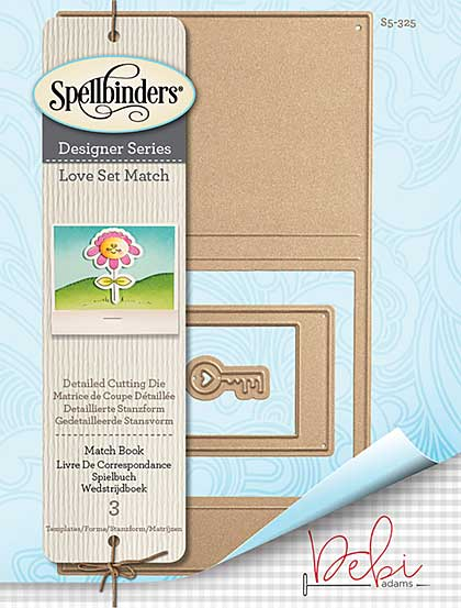 Spellbinders Shapeabilities Dies - Love Set Match - Match Book (Debi Adams)