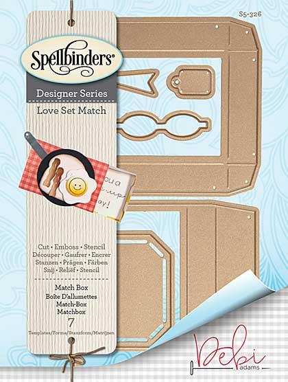 Spellbinders Shapeabilities Dies - Love Set Match - Match Box (Debi Adams)