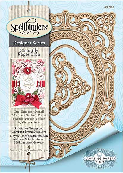 Spellbinders Chantilly Paper Lace - Annabelles Trousseau Layering Frame (Becca Feeken)