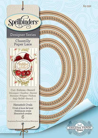 Spellbinders Chantilly Paper Lace - Hemstitch Ovals (Becca Feeken)