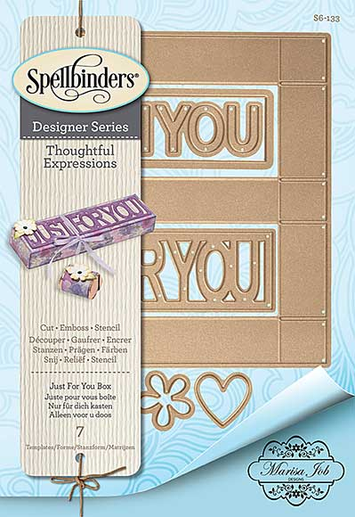 Spellbinders Shapeabilities Dies - Thoughtful Expressions - Just For You Box (Marisa Job)