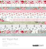 Kaisercraft Paper Pad - High Tea (6.5x6.5 40 sheets)