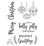 Mint Wishes Clear Stamps
