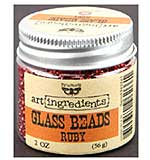 SO: Art Ingredients Glass Beads 2oz - Ruby
