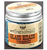 Art Ingredients Glass Beads 2oz - Turquoise