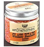 SO: Art Ingredients Glass Beads 2oz - Rust