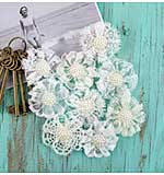 Sarasota Fabric and Paper Flowers - Relaxed 1.5, 9pk