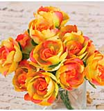Soprano Handmade Paper Flowers with Wire Stems 1 12pk - Yellow