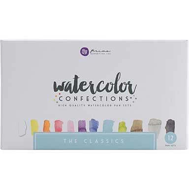 Prima Watercolor Confections Watercolor Pans 12pk - The Classics