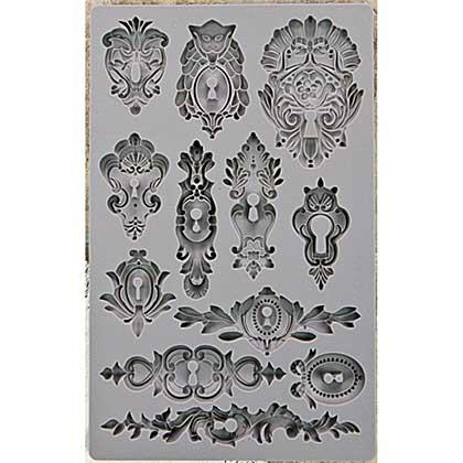 SO: Iron Orchid Designs - Vintage Art Decor Mould - Keyholes