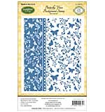 JustRite Papercraft Cling Background Stamp 4.5x5.75 - Buterfly Vines