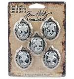 Idea-Ology Crypt Cameos, Antique Nickel (5pk)