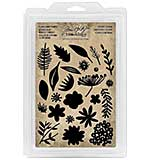 Idea-Ology Cling Foam Stamps - Cutout Floral (24pk)