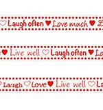 Marianne Design Ribbon - Live, Laugh, Love