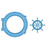 SO: Marianne Design Creatable - Porthole and Ships Wheel (2pcs)