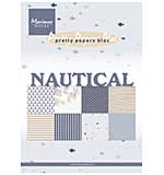 SO: Marianne Design Paper Bloc - Nautical Themed, A5 8 Designs, 32 Sheets