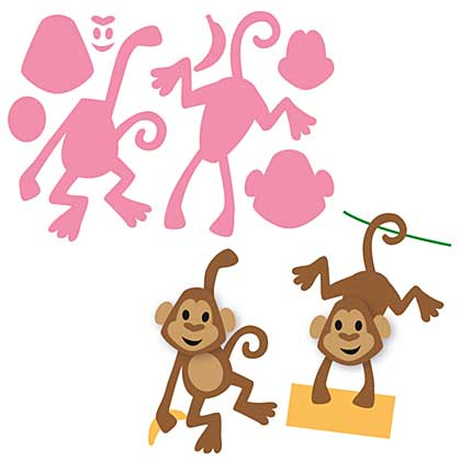 SO: Marianne Design Collectables - Eline\'s Monkey (8pcs)