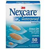 SO: Nexcare Waterproof Bandages 50pk - Assorted Sizes