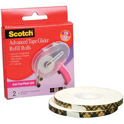 Scotch Advanced Tape Glider Acid-Free Refills (2pk for use In 085)