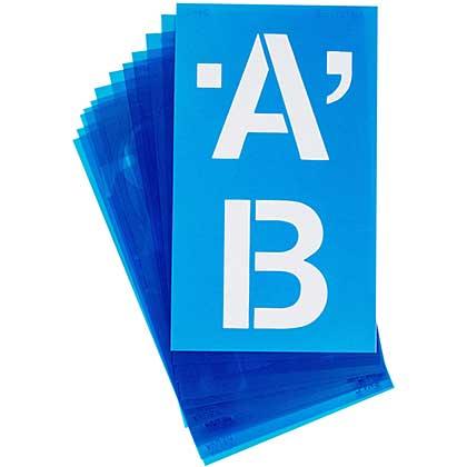 Alphabet Stencils 100pk - Helvetica Capital Letters (4 inch)