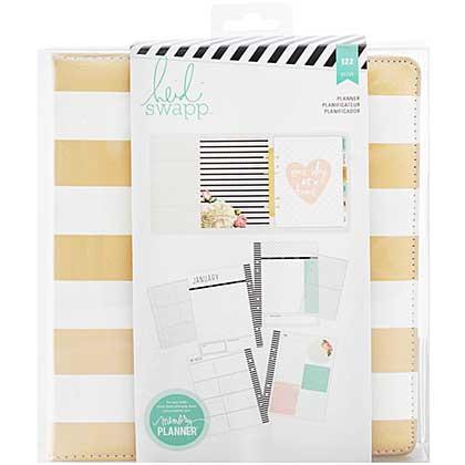 SO: Heidi Swapp Large Memory Planner - Gold Foil Stripes