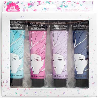 SO: Jane Davenport Mixed Media Acrylic Paint Kit - Janes Paint