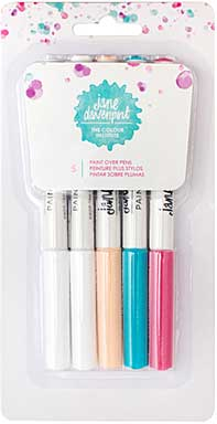 SO: Jane Davenport Mixed Media Paint Over Pens (5pk)