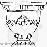 WC Decorative Urn